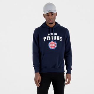 Sweat   capuche New Era  avec logo de l'équipe Detroit Pistons
