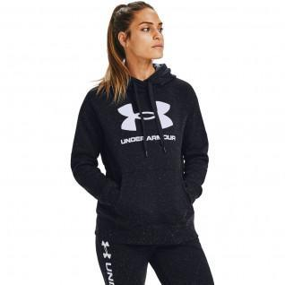 Damen-Kapuzenpulli Under Armour avec logo Rival Fleece