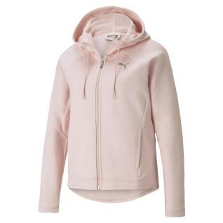 Damen-Sweatshirt mit durchgehendem Reißverschluss Puma Evostripe
