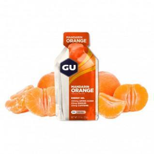 Packung mit 24 Gelen Gu Energy mandarine/orange