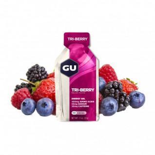 Packung mit 24 Gelen Gu Energy 3 fruits rouges