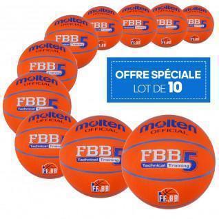 10er-Pack Freizeitballons Molten FBB Technical Training