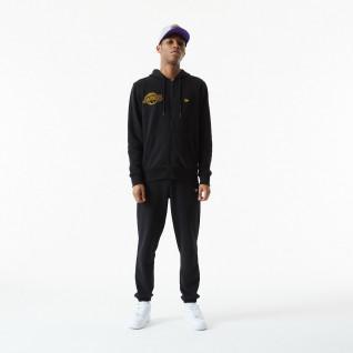 Sweatshirt mit Kapuze New Era NBA Chain Stitch Los Angeles Laker